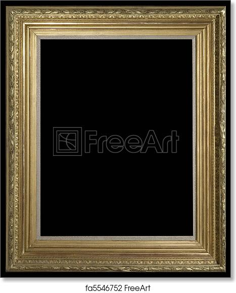 free art print of golden baroque frame freeart fa5546752