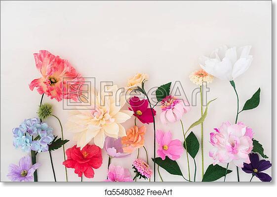 Free Art Print Of Crepe Paper Flowers