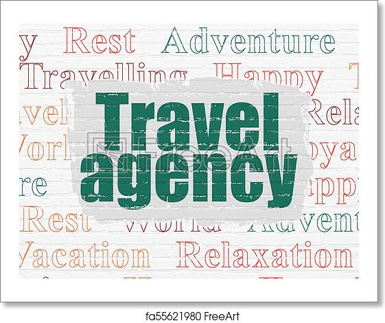 Free art print of Travel concept: Travel Agency on wall background