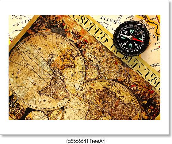 Free art print of old paper world map old paper world map and a free art print of old paper world map gumiabroncs Images