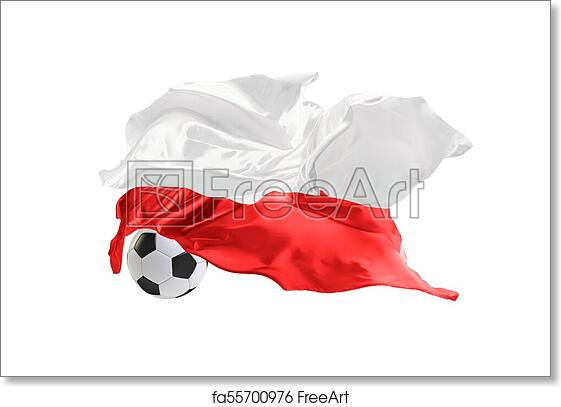 free art print of the national flag of poland fifa world cup