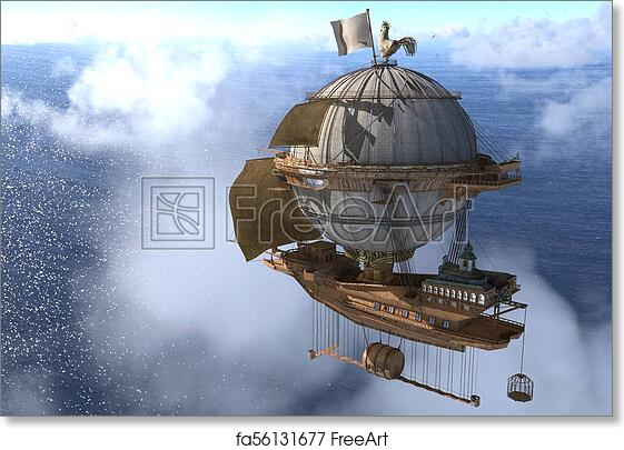 Fantasy Airship Artwork