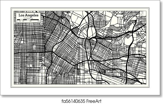 Free art print of Los Angeles California USA City Map in Retro Style California City Map Outline on lancaster map outline, chico map outline, inglewood map outline, fullerton map outline, san francisco map outline, washington and oregon map outline, usa map outline, inyo county map outline, avalon map outline,