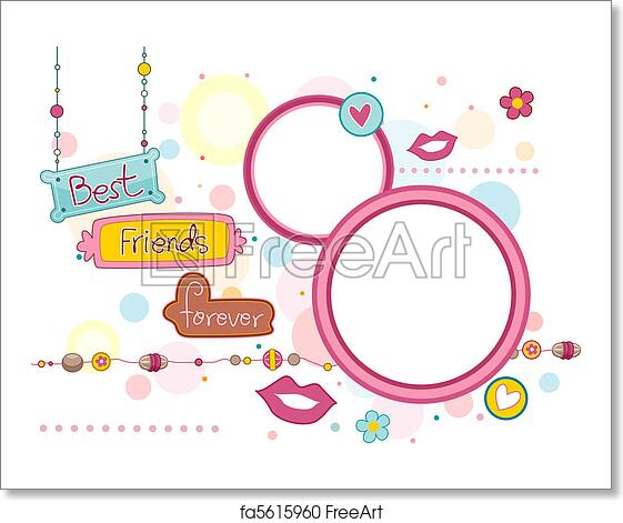 Free art print of BFF Frame. Illustration of Frames and Signboards ...