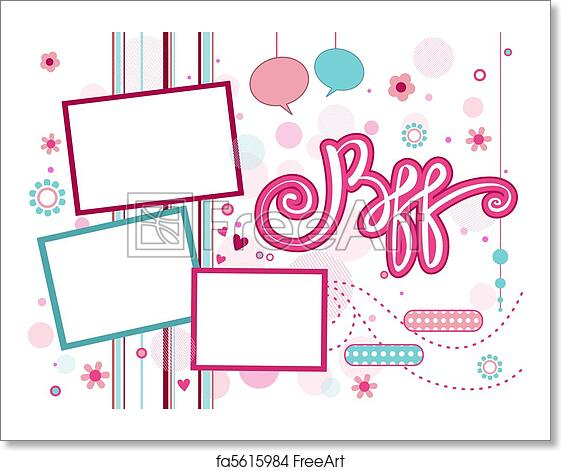 Free art print of BFF Frame. Illustration of a Frame Featuring the ...
