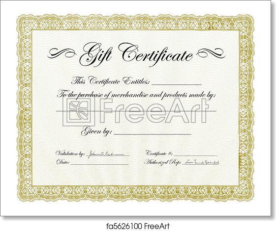 free art print of vector gift certificate frame vector ornate