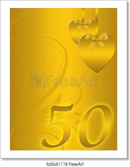 Free Art Print Of Golden Wedding Anniversary Background Freeart
