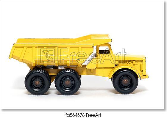 free art print of old toy dump truck - Toy Dump Trucks