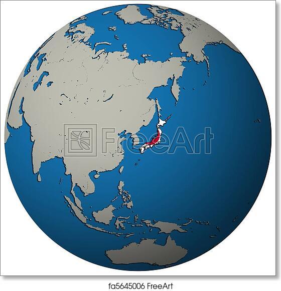 Japan World Map Globe Usa Show Maps Images: Japan Globe Map At Infoasik.co
