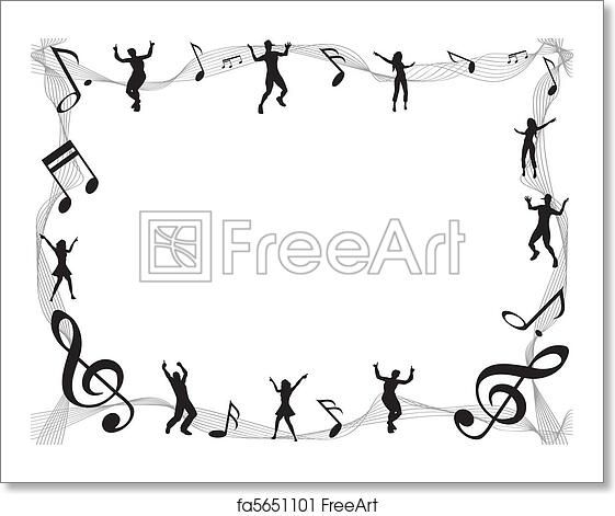 free art print of music note frame - Music Note Picture Frame