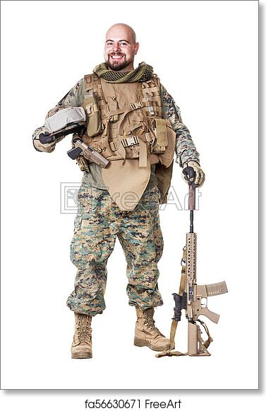 Free art print of US Marine Soldier