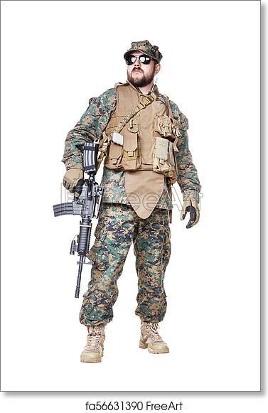 Free art print of US Marine Soldier