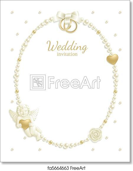 Free art print of Wedding jewel frame. Wedding background with ...