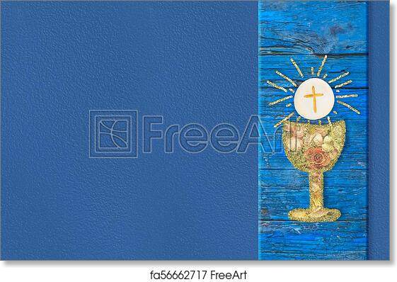 Free Art Print Of First Holy Communion Invites Cards First Holy