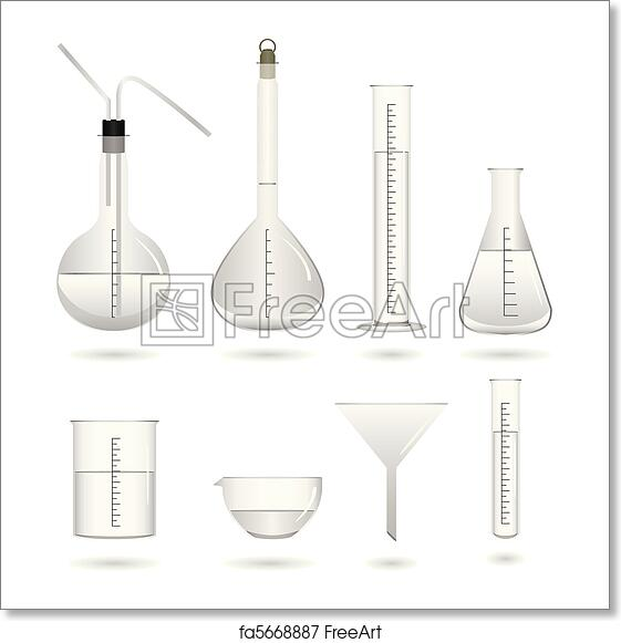 Free art print of Science Chemical Lab Equipment. A set of