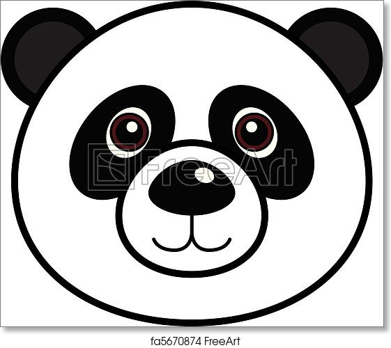 graphic about Printable Panda Pictures titled Cost-free artwork print of Adorable Panda Vector