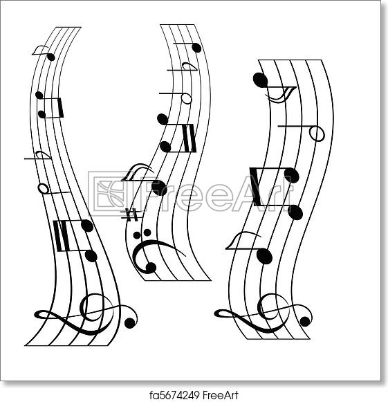 Free art print of Music notes. Musical notes on music