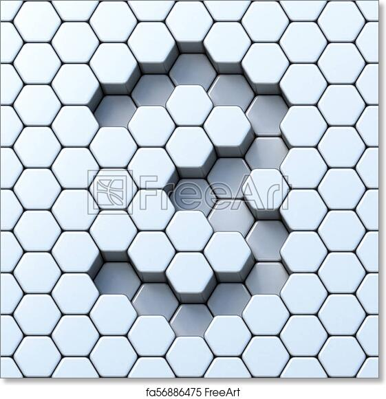 picture relating to Printable Hexagon Grid identified as Cost-free artwork print of Hexagonal grid selection 3 3 3D