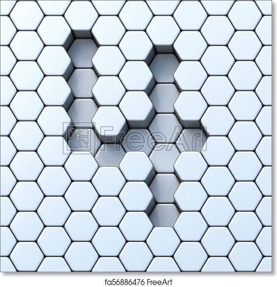 photo about Printable Hexagon Grid titled Cost-free artwork print of Hexagonal grid range 4 4 3D