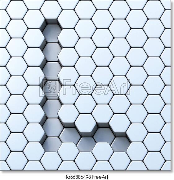 free art print of hexagonal grid letter l 3d hexagonal grid letter l 3d render illustration freeart fa56886498 free art print of hexagonal grid letter l 3d