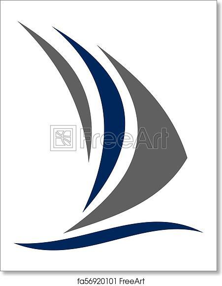 free art print of sailboat logo design template vector freeart