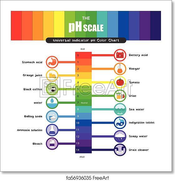 Free art print of The pH scale Universal Indicator pH ...