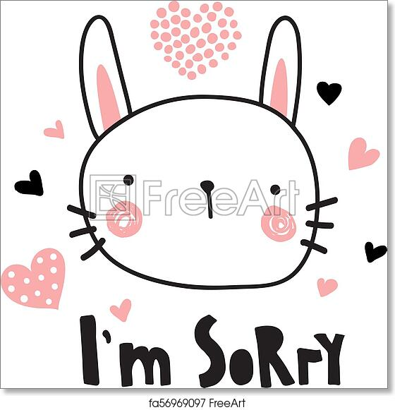 photo relating to Printable Sorry Card named Free of charge artwork print of Im sorry