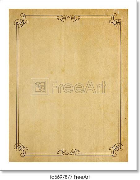Free art print of Very Old Blank Paper Background With Scroll – Blank Paper Background