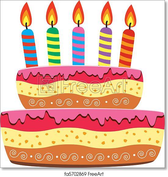 Free Art Print Of Birthday Cake Vector Birthday Cake With Burning