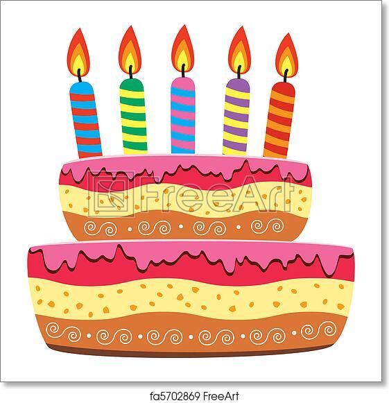 Free Art Print Of Birthday Cake
