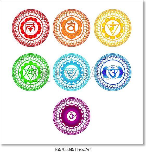 Free Art Print Of Chakra Symbols Set
