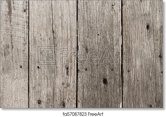 Free Art Print Of Old Wood Floor Pale Color For Background Texture With Rust Nail