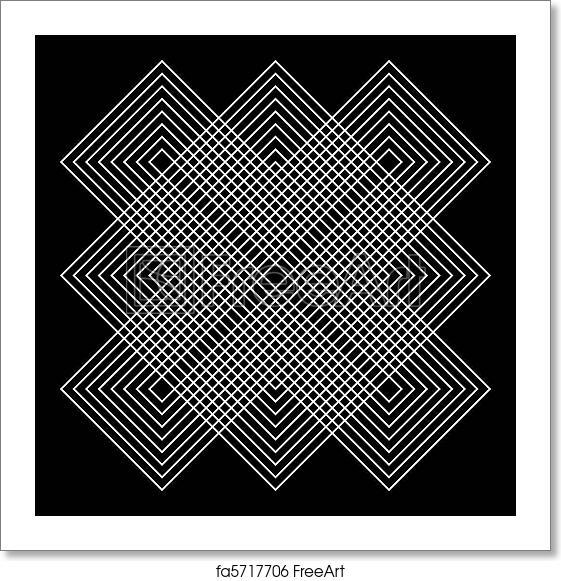 Free art print of vector geometric illusions abstract for Geometric illusion art