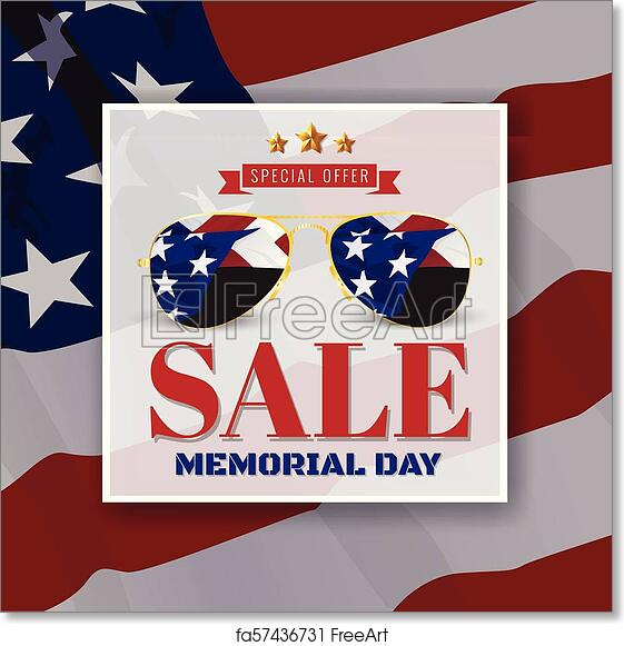 graphic about Closed for Memorial Day Printable Sign identified as Free of charge artwork print of Memorial Working day Sale Marketing Banner Historical past Structure