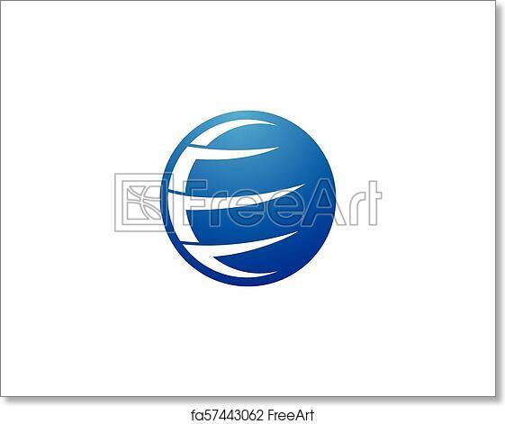 Free art print of Globe logo vector