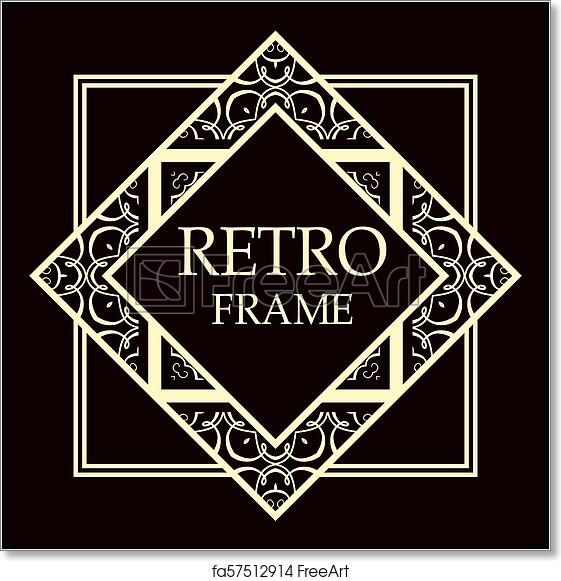 Free art print of Art deco frame. Art deco border template vector ...