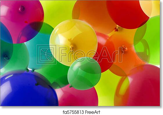 free art print of balloon background with many colours many colored
