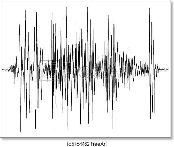 free art print of audio wave diagram audio wave diagram a chart