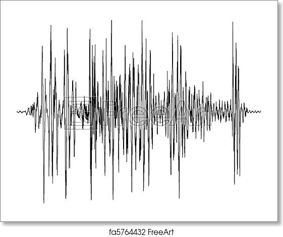 Free art print of Audio wave diagram. Audio wave diagram