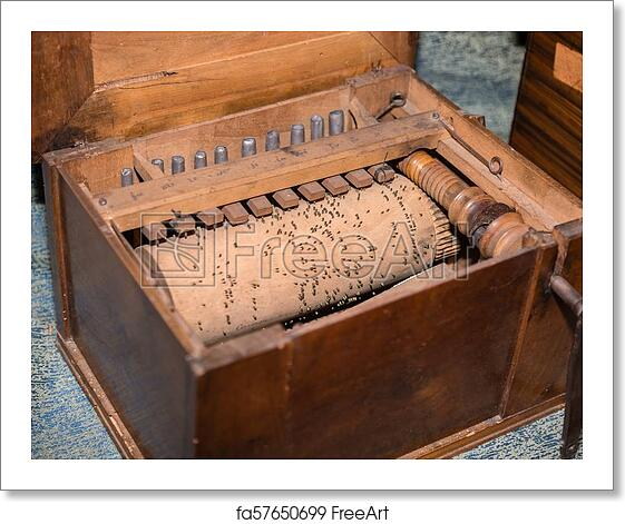 Free Art Print Of Detail Of Inner Parts Of Wooden Barrel Organ