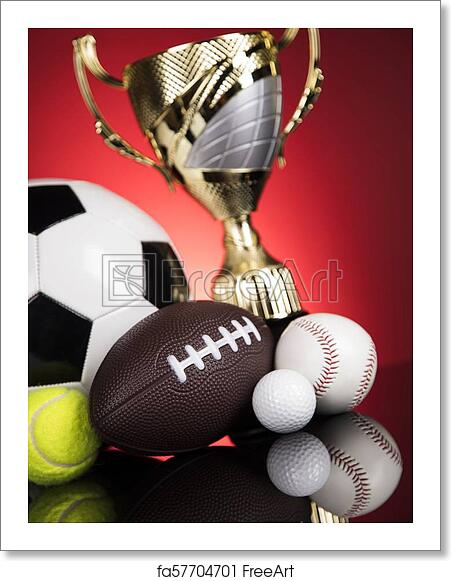 Free Art Print Of Trophy Winning Sport Ball Background