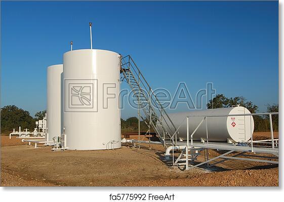 Free art print of White Oil Tanks