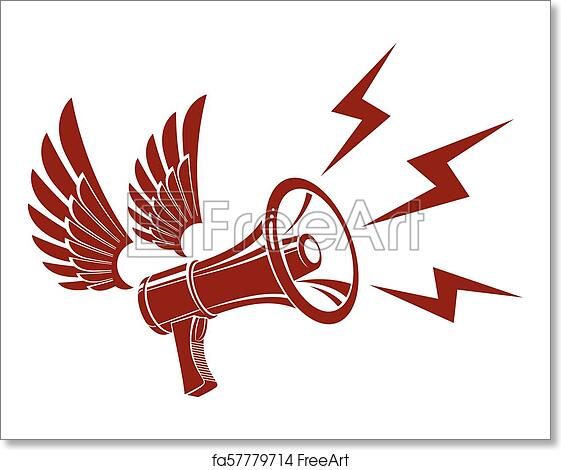 free art print of loudspeaker vector illustration isolated on white and composed with lightning symbol power of social message public relations concept freeart fa57779714 free art print of loudspeaker vector illustration isolated on white and composed with lightning symbol power of social message public relations