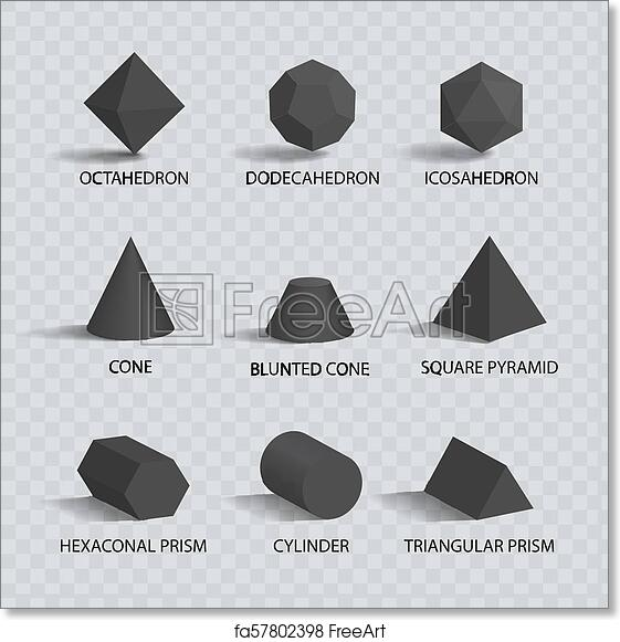 Free art print of Octahedron and Dodecahedron Vector Illustration