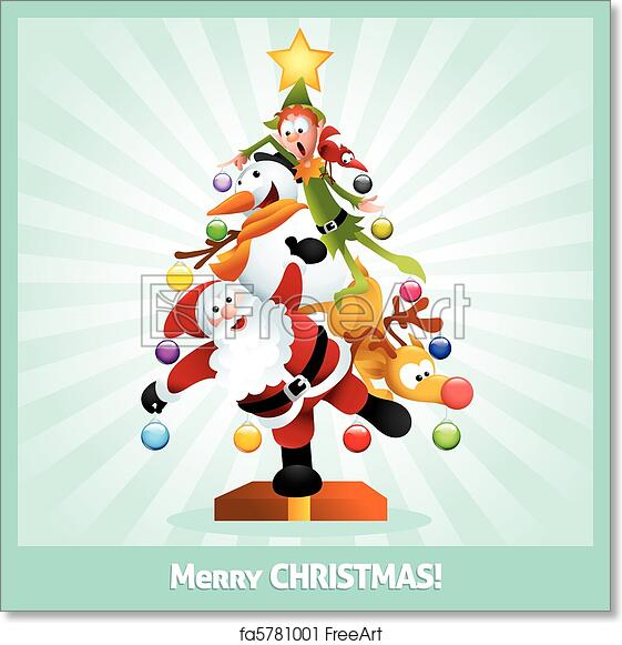 photograph regarding Free Printable Funny Christmas Cards titled No cost artwork print of Humorous Xmas Card Cartoon Collage