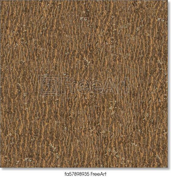 free art print of wooden bark seamless tileable texture brown dark
