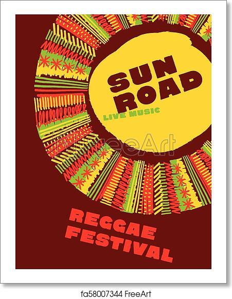 Free Art Print Of Reggae Music Classic Color Concept Poster Jamaica