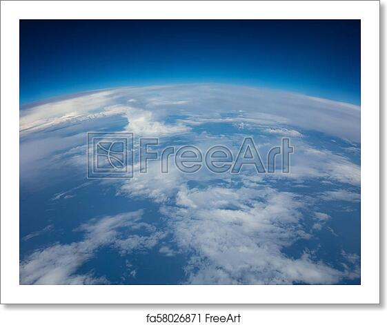 Free art print of Curvature of planet earth  Aerial shot