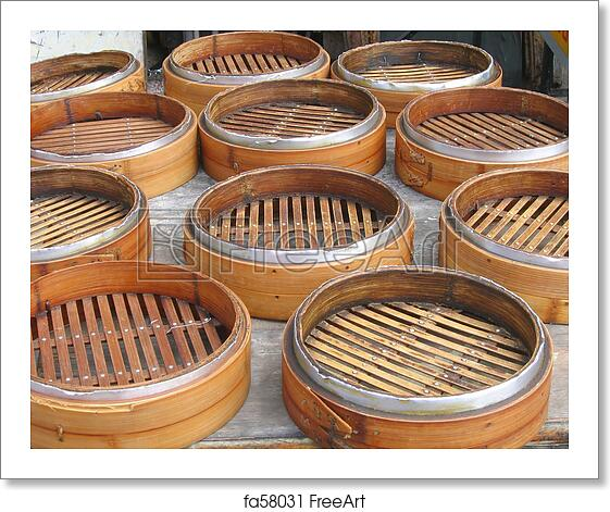 59f0bfca5 Free art print of Bamboo Steamers. Chinese Bamboo Steamers | FreeArt ...