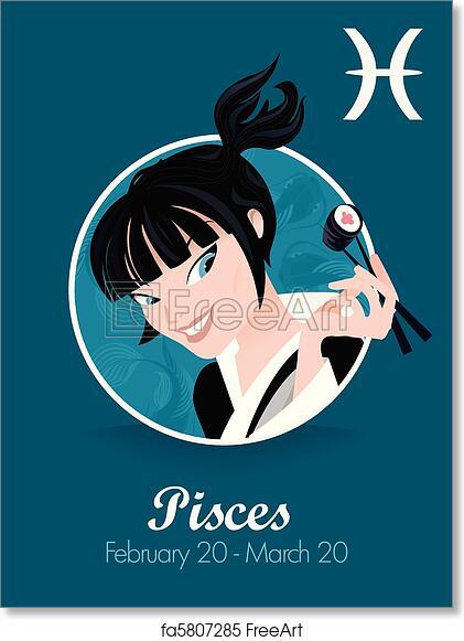 Free Art Print Of Pisces Zodiac Sign Freeart Fa5807285